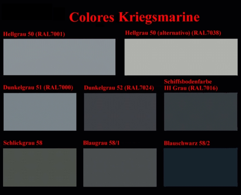 Colors Kriegsmarine