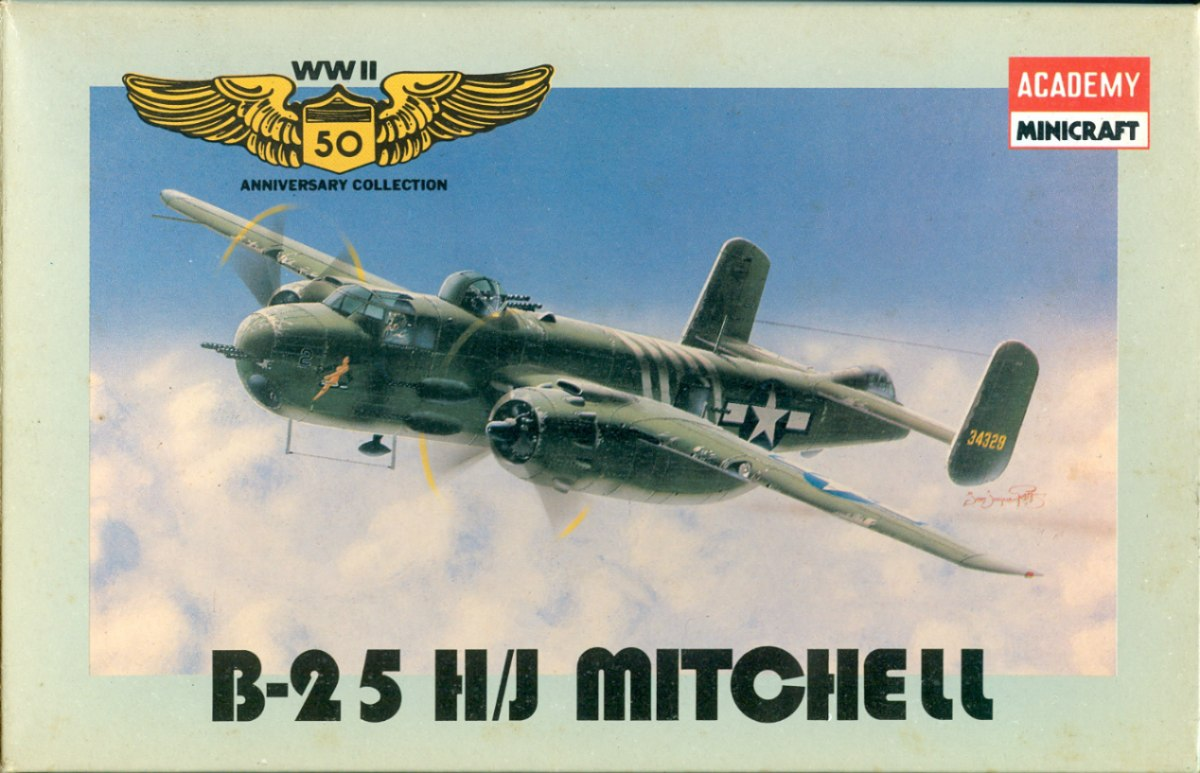 B 25 H/J Mitchell de Academy 1/144 - Modeling