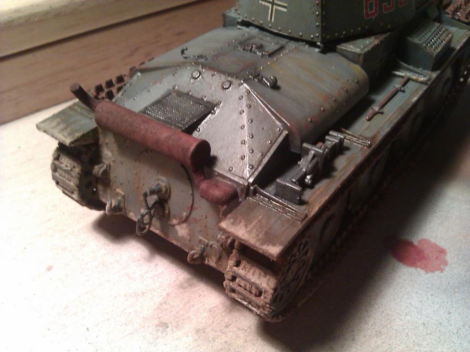 Aplicando oleos y pigmentos panzer 38(t)