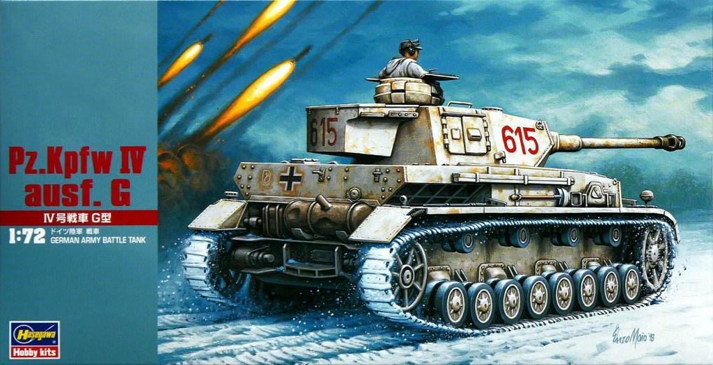 Kit panzer IV hasegawa escala 1:72