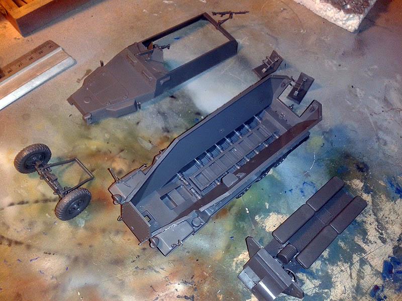 montaje por partes del sdkfz 251