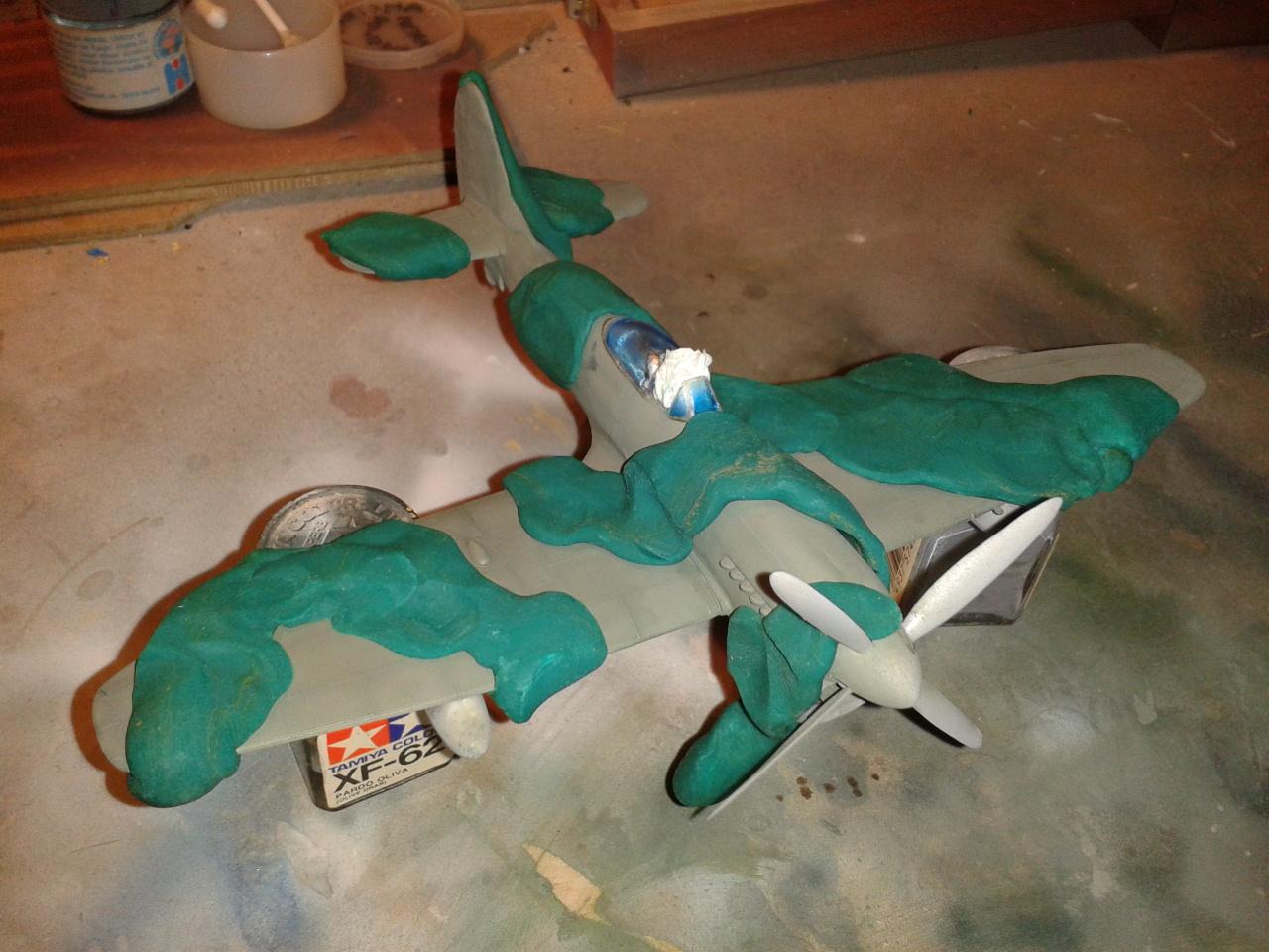 Hawker Tempest MkV mask with plastelina