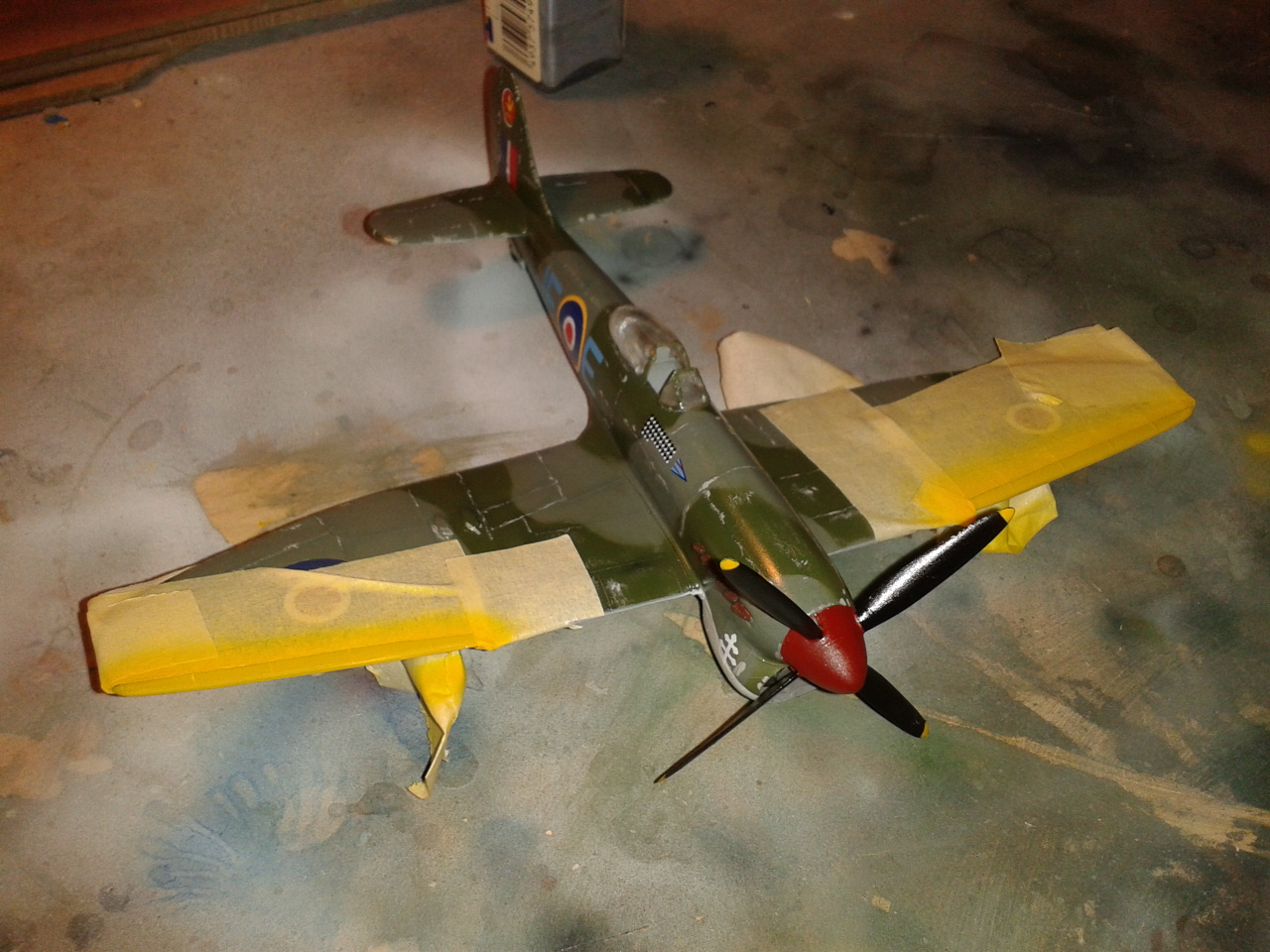 Hawker Tempest MkV yellow stripes