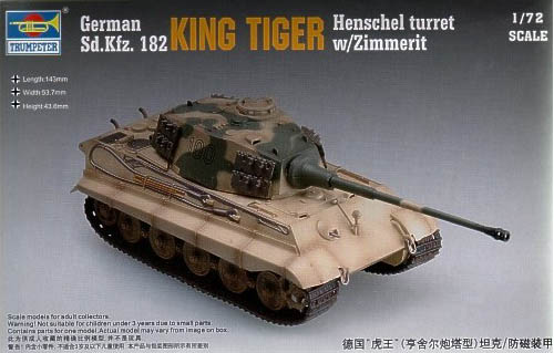 king tiger henschel turret trumpeter 1:72