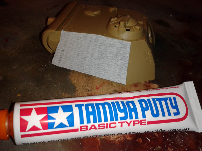 zimmerit con putty panther tamiya
