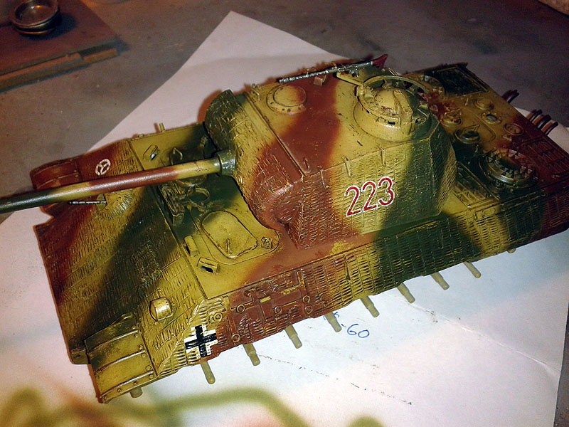 camouflage paint panther