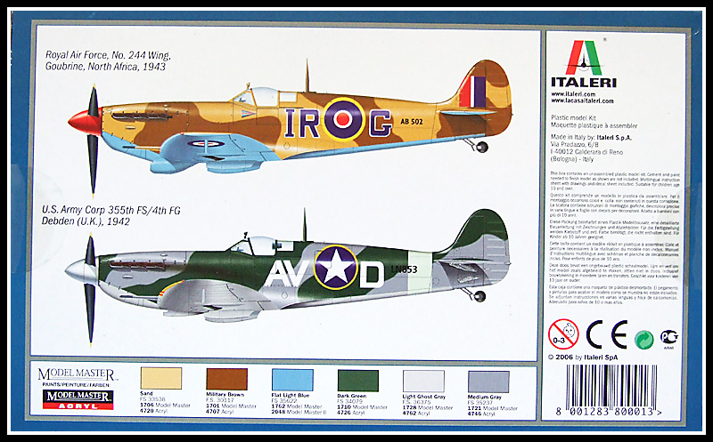 versiones kit spitfire mk vb italeri 1:72