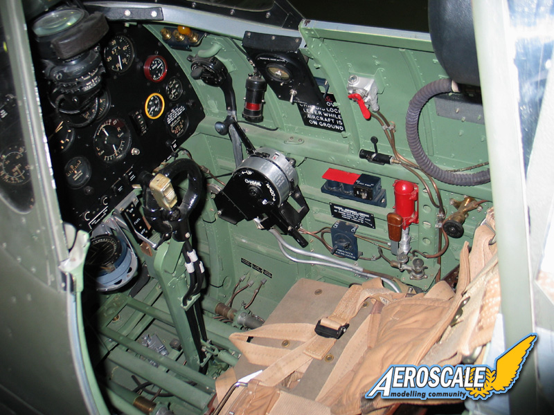 Interior cockpit of a Spitfire