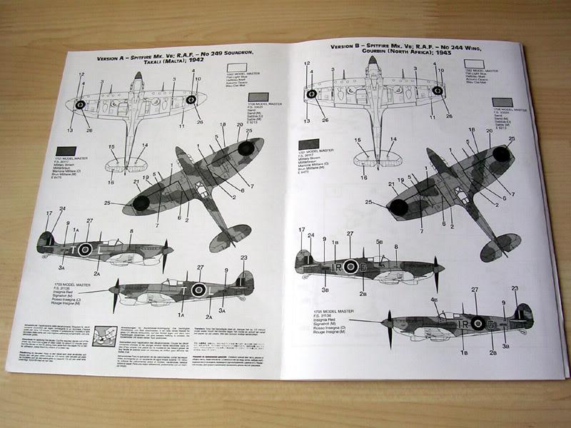 spitfire mk vb italeri 1:72 instrucciones