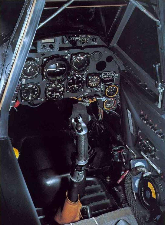Habitaculo del piloto de un Messerschmitt BF 109
