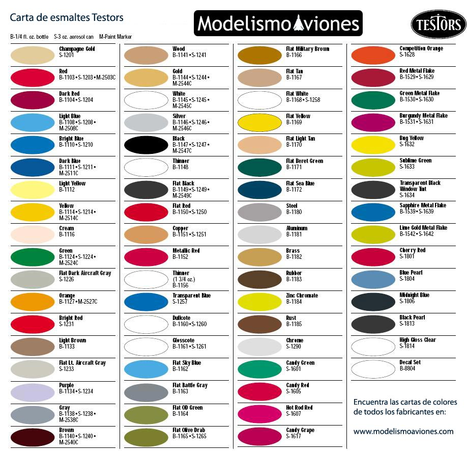 Color chart testors modelling color chart for model testors geenschuldenfo Gallery