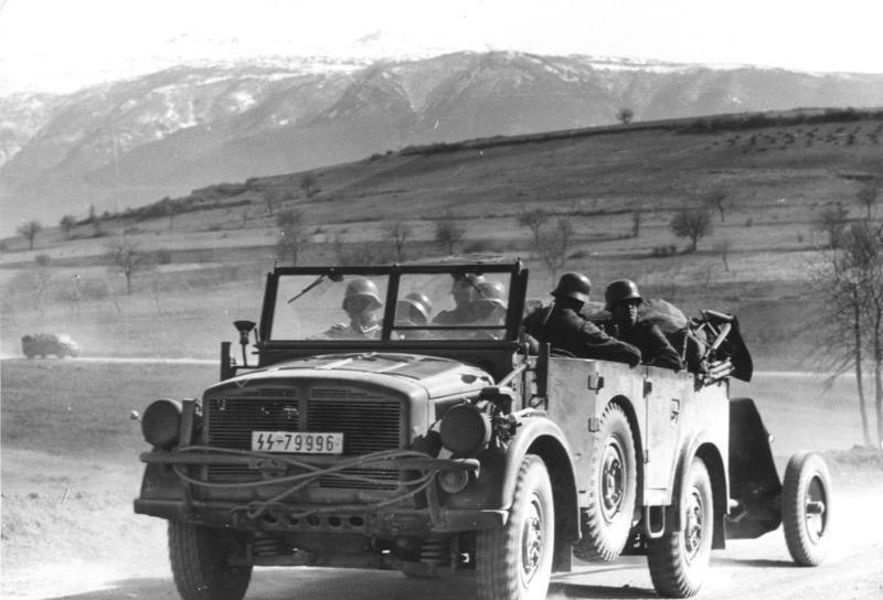 Holch 4x4 Type IA de las SS Leibstandarte Adolf Hitler