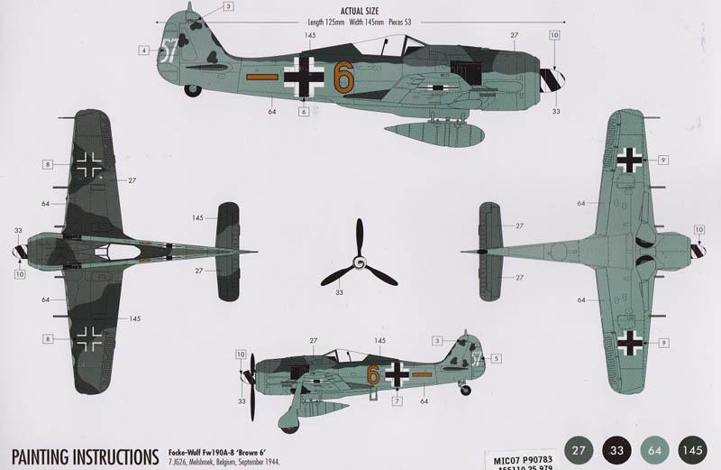 Camouflage scheme FW190 A-8 Airfix 1:72