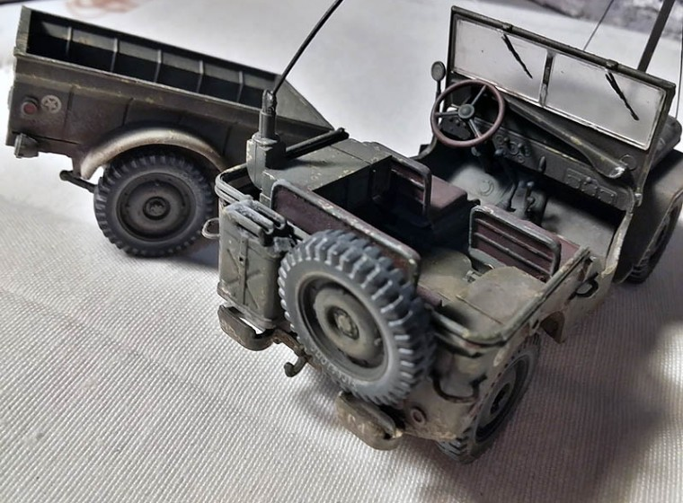 Jeep Willys 2015 >> Willys MB jeep con remolque Italeri 1:35 - Modelismo