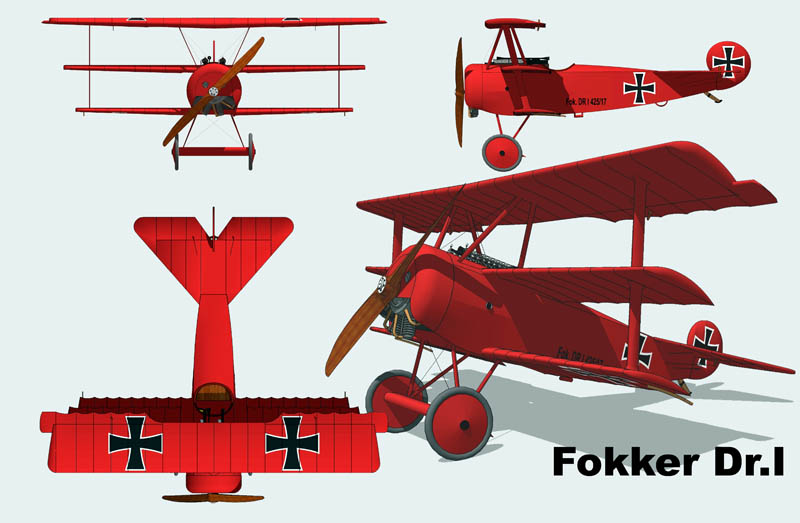 Fokker_Dr.I_3_vues
